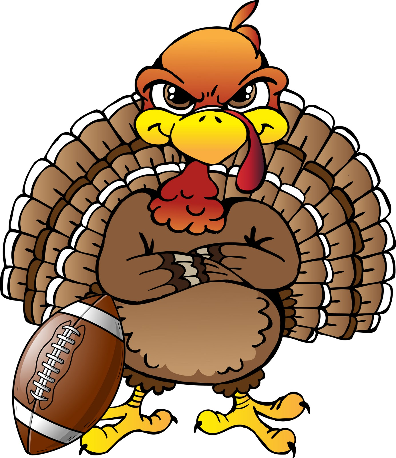 Funny Turkey Clip Art.