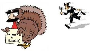 Funny Thanksgiving Turkey Clipart.