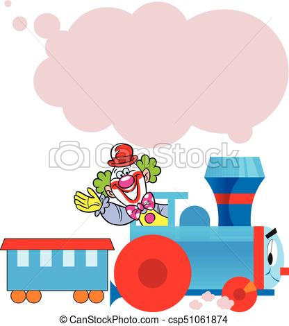 funny train with clown.