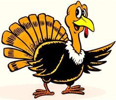 Funny Turkey Clip Art.