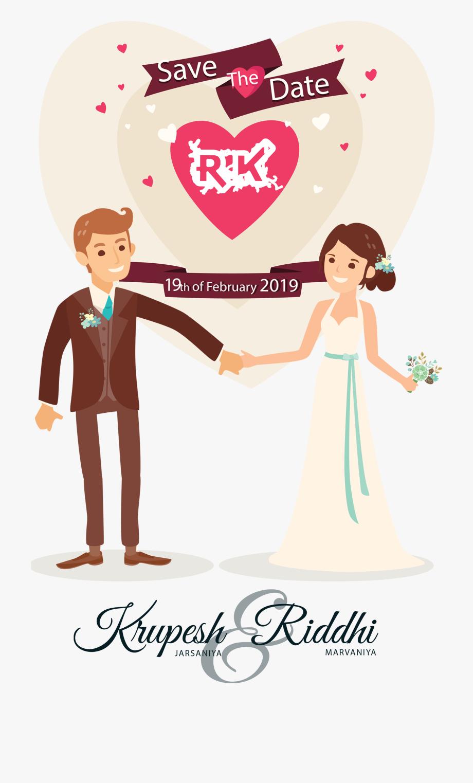 Funny Wedding Couple Clipart , Transparent Cartoon, Free.