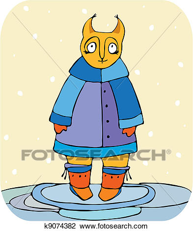 Funny Squirrel Winter Clipart.
