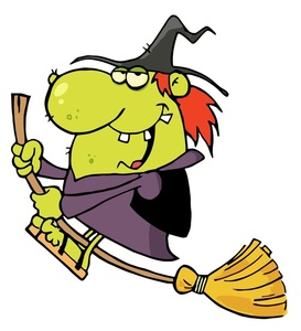 Funny Witch Clipart.