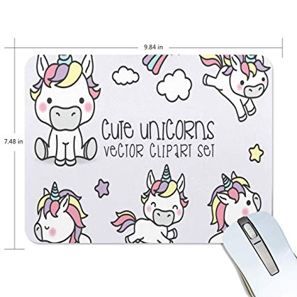 Amazon.com : Funny Mouse Pad Personalized Cute Unicorn.