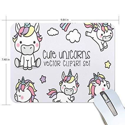 Amazon.com : Funny Mouse Pad Personalized Cute Unicorn.