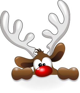 Funny Reindeer by @cyberscooty, cartoon reindeer.