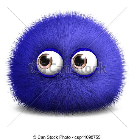 Fuzzy ball clipart.