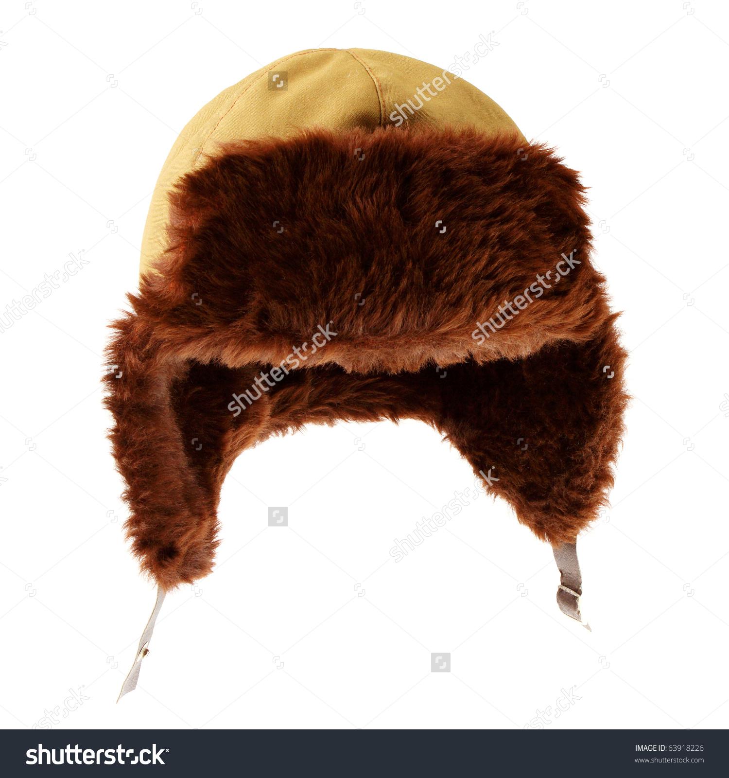 Fur Cap Winter Weather Stock Photo 63918226.