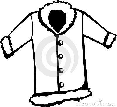 Fur coat vector illustration.