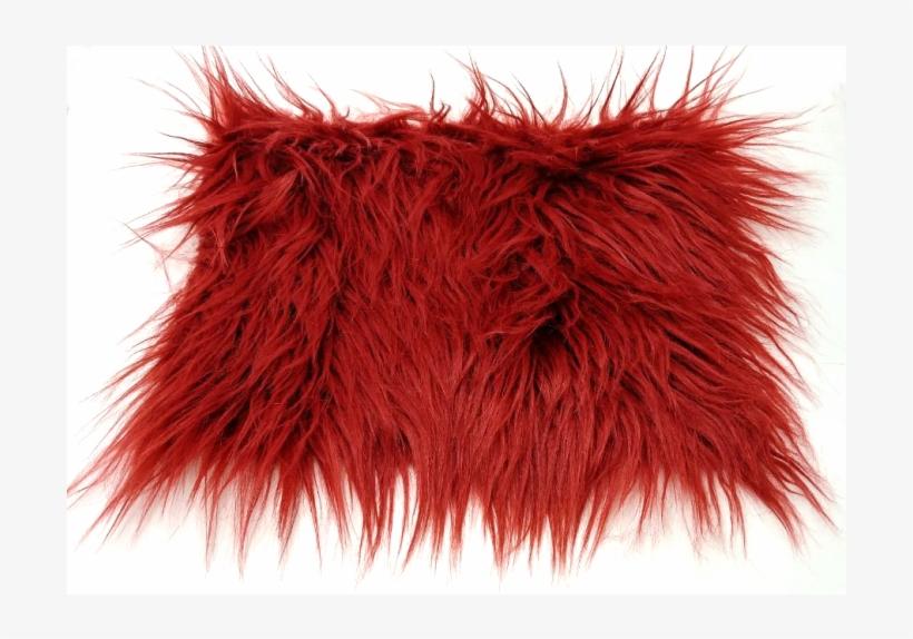 Maroon Luxury Shag Faux Fur.