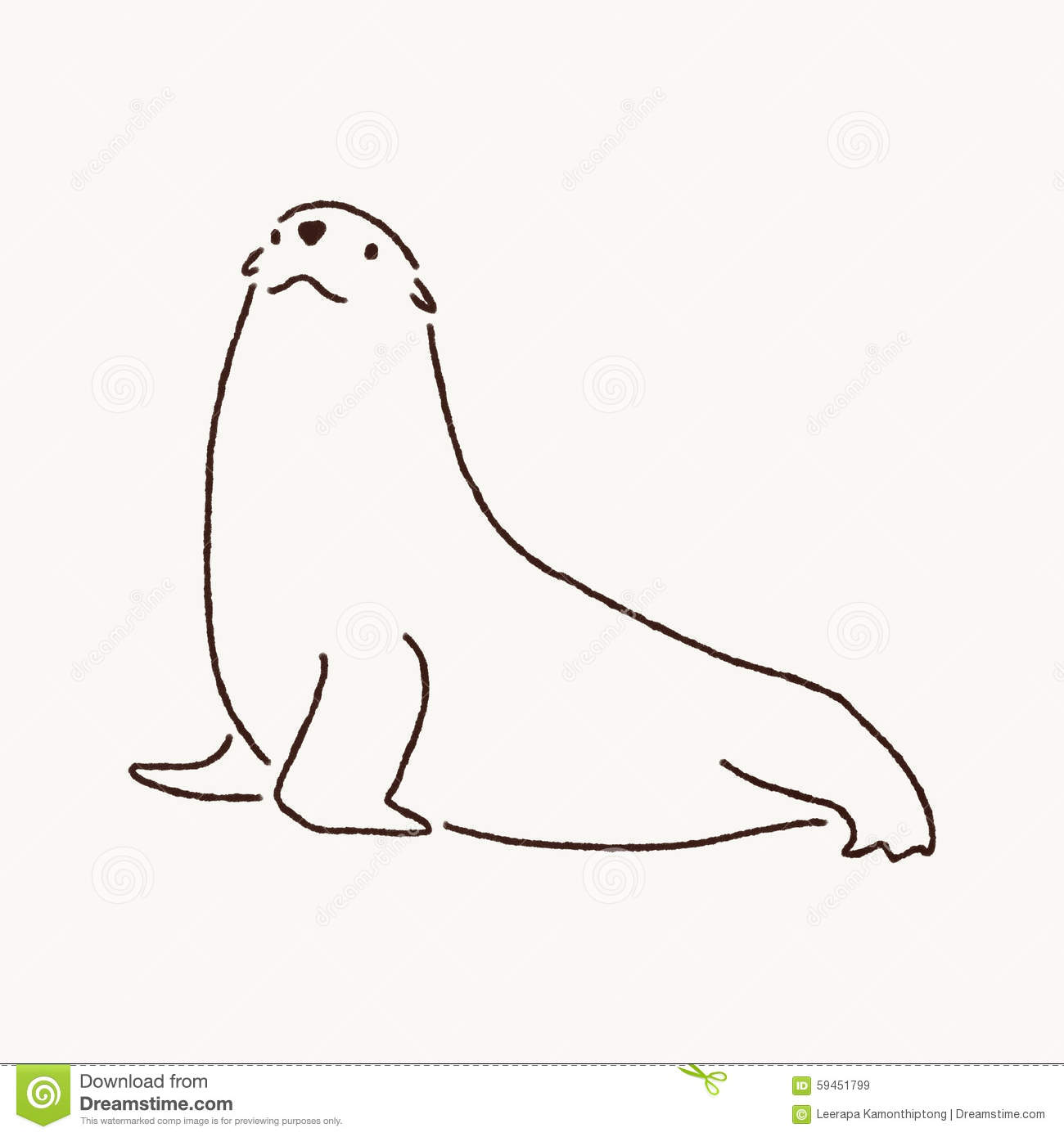Fur Seal Clipart.