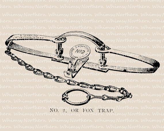 Fox Trap Clip Art.