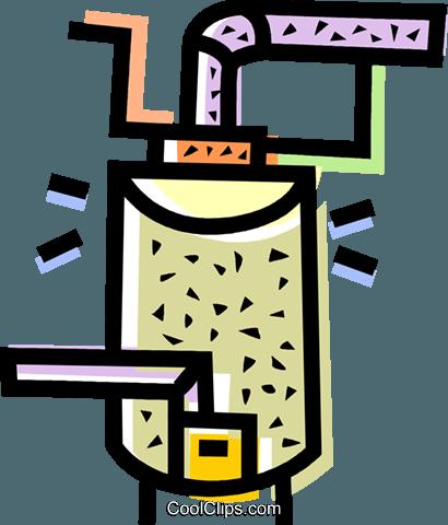 furnace Royalty Free Vector Clip Art illustration.