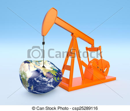 Clipart of shortage of oil resources.