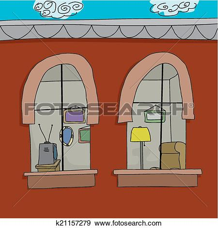 Clip Art of Furnished Apartment k21157279.