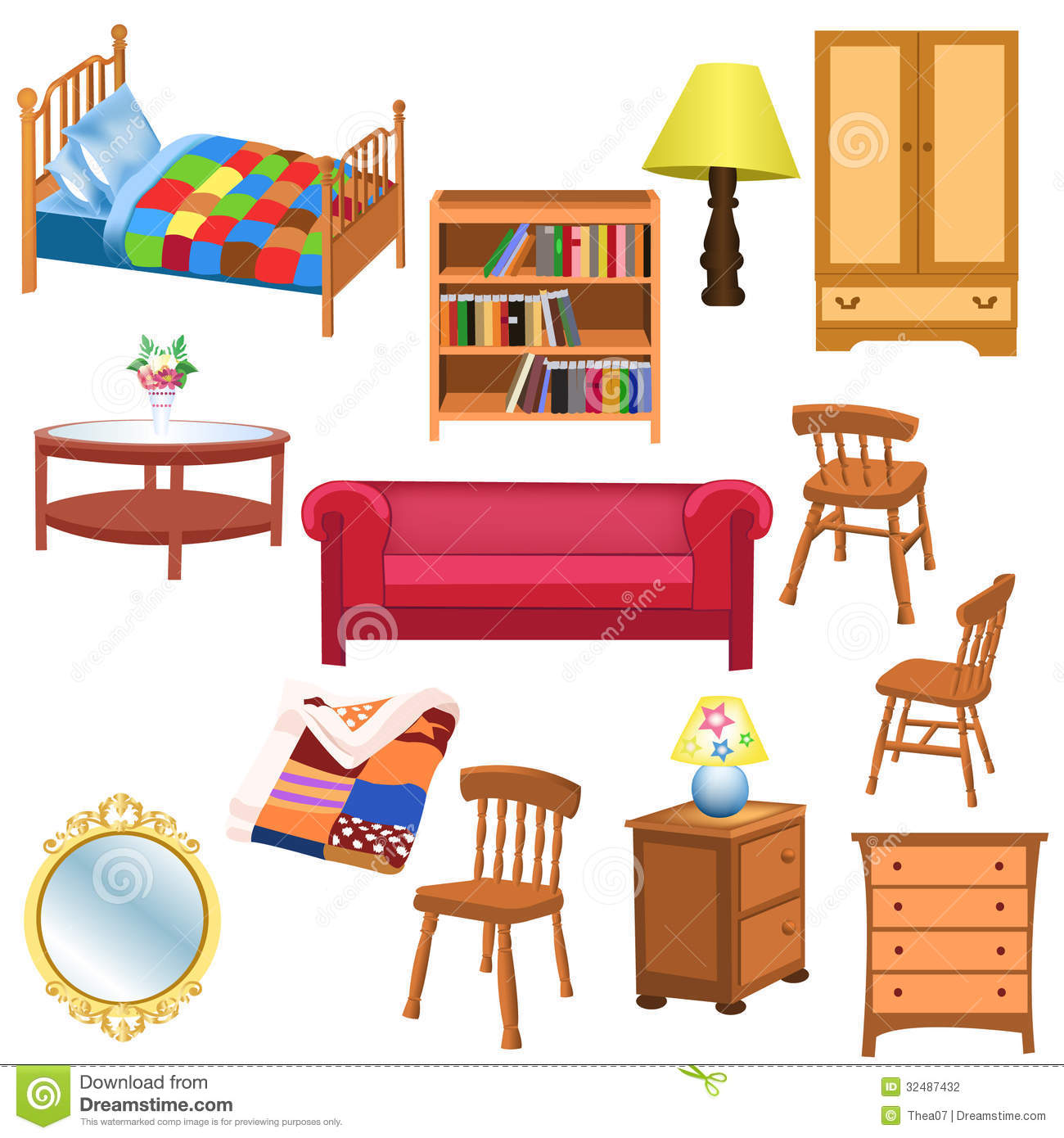 Clipart furniture pictures.