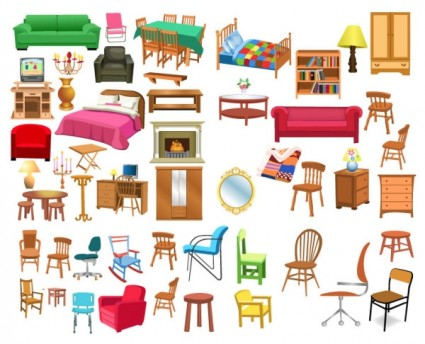 House furnishing clipart.