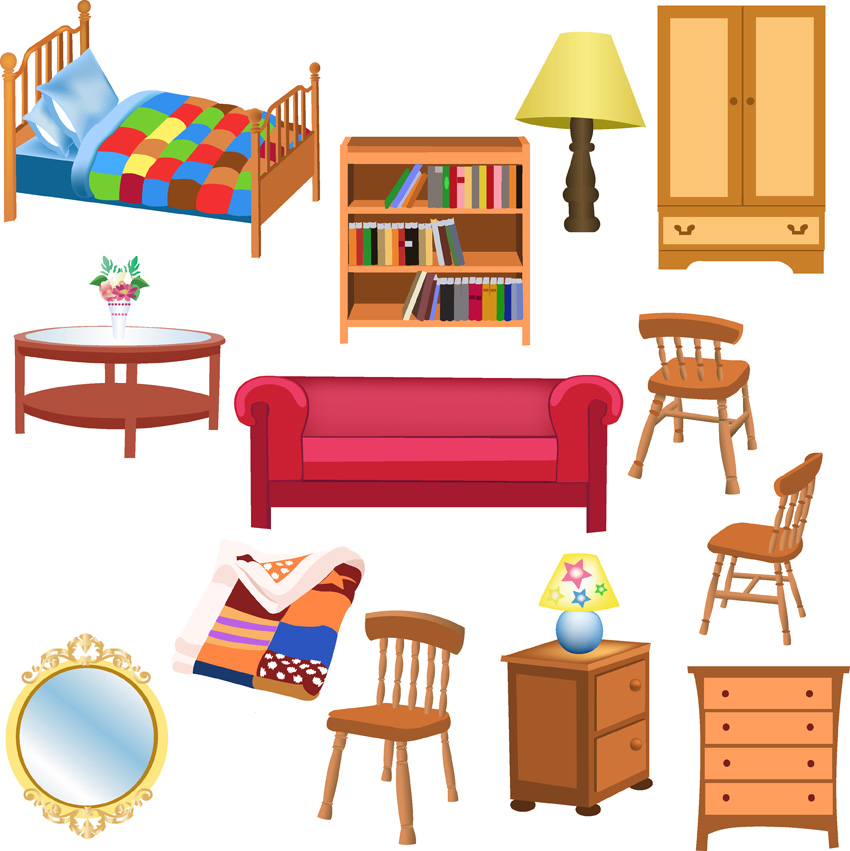 House furnishings clipart.