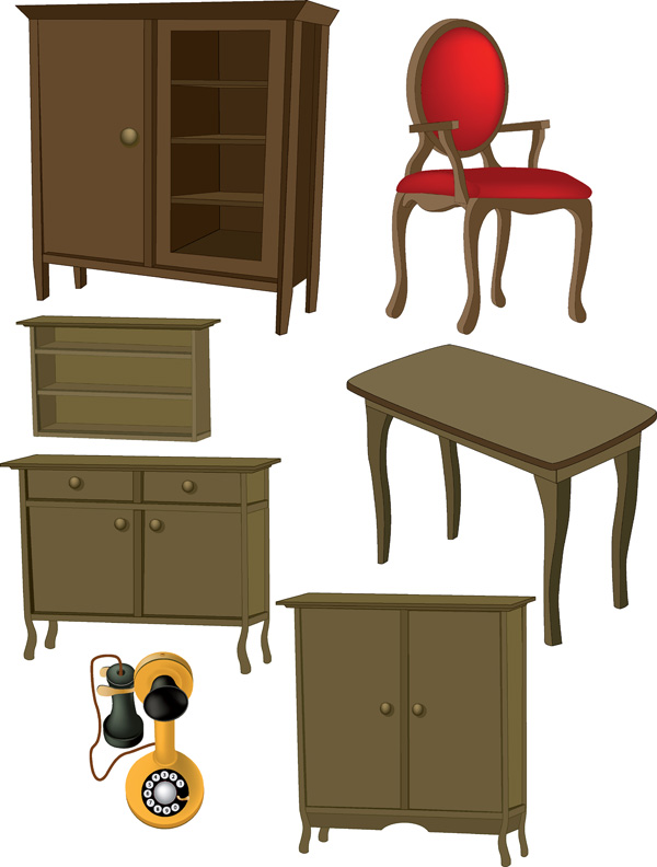 A variety of furniture furniture clip art Free Vector / 4Vector.