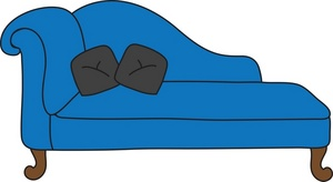 Chaise Lounge Clipart Image.