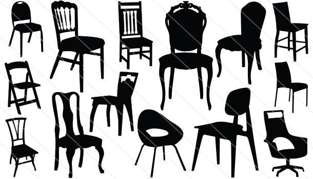Chair Silhouette Vector (14).