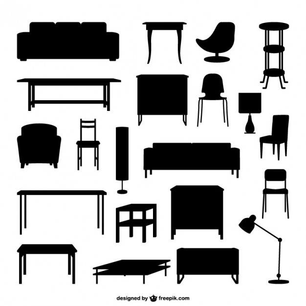 Furniture outlines Vector.