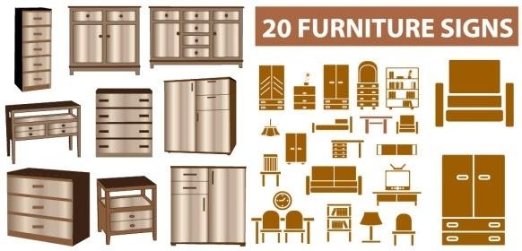 Top view furniture clip art free vector download (215,344.