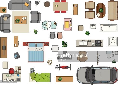 Furniture Clipart For Floor Plans.