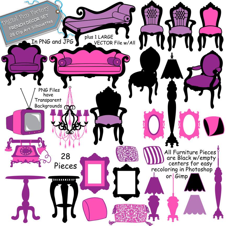 Furniture Clip Art Image.