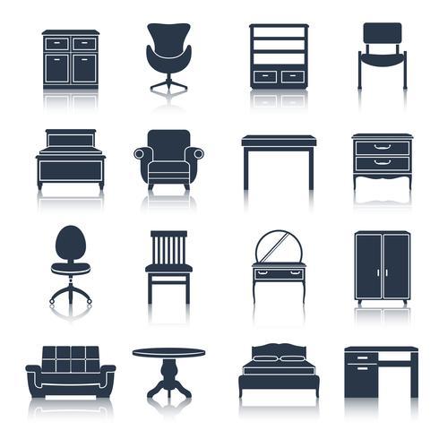 Furniture Icons Black.