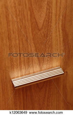 Stock Photograph of Wood texture for background Furniture handle.