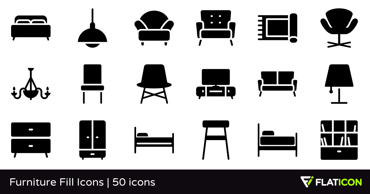 Furniture Fill Icons 50 free icons (SVG, EPS, PSD, PNG files).