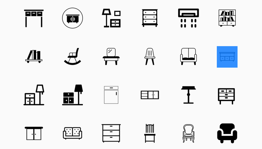 25+ Best Furniture, Interior & Decoration Icons.