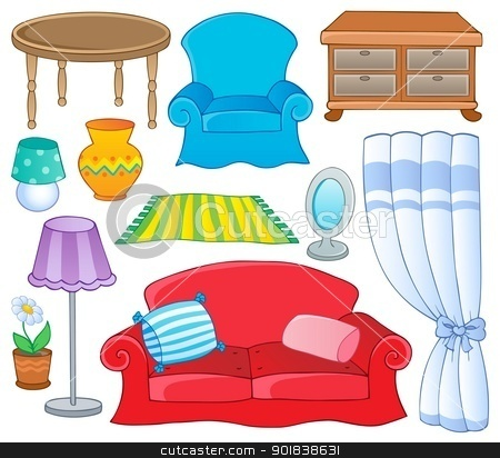 Art Small Interior : Bedroom Furniture Clipart.