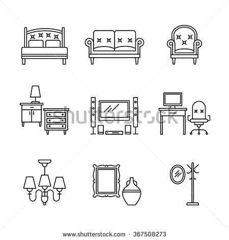 Pieces Of Furniture Stock Vectors & Vector Clip Art.