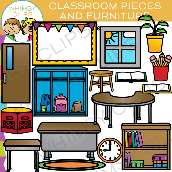Classroom Pieces Clip Art , Images & Illustrations.