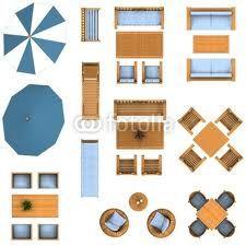 furniture plan view.