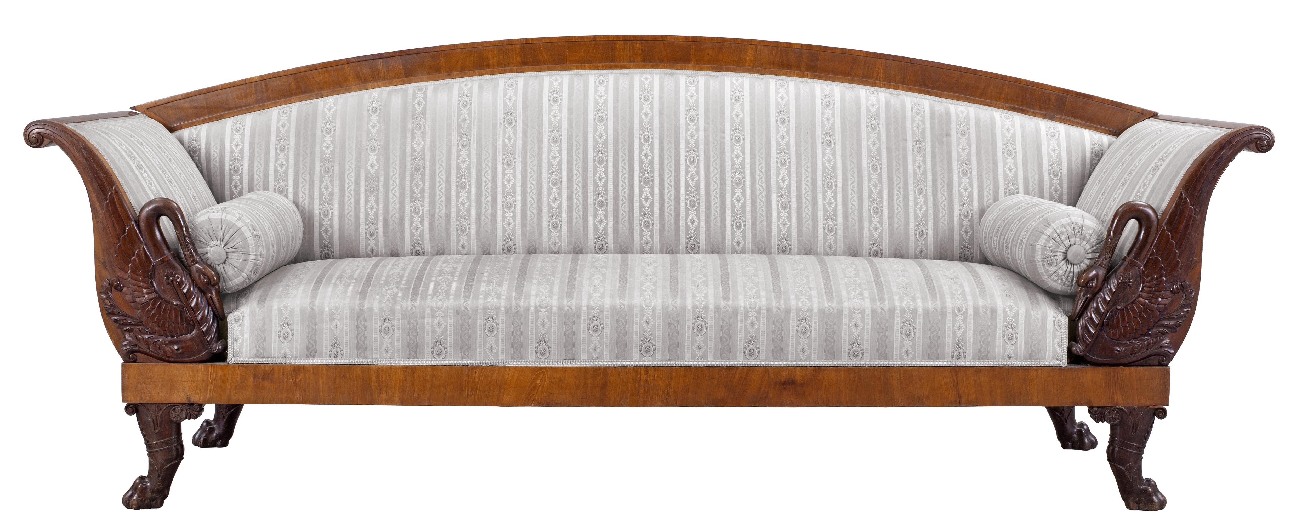 Transparent Vintage Couch PNG Picture.