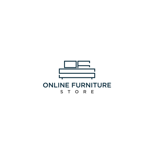 Design Online Furniture Store Logo.