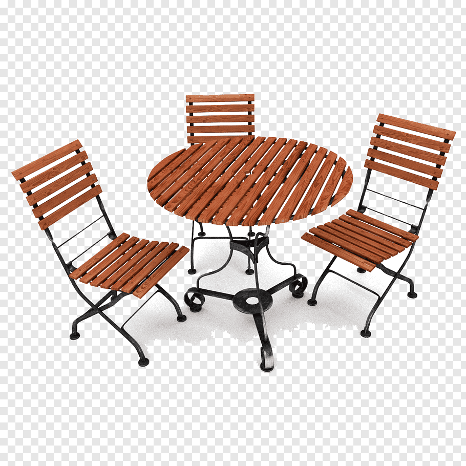 Brown wooden patio set, Table Garden furniture Chair.
