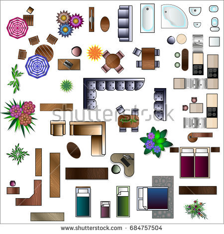 Furniture Clipart Top View.