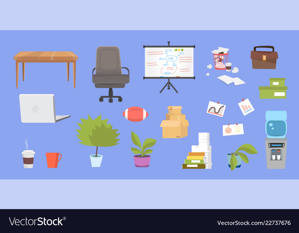 Clipart collection with office furniture.