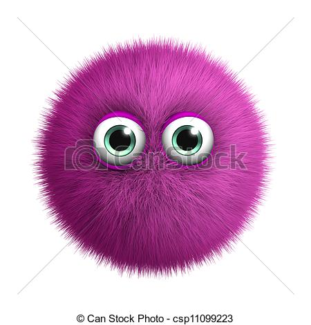 Clip Art of furry pink monster csp11099223.