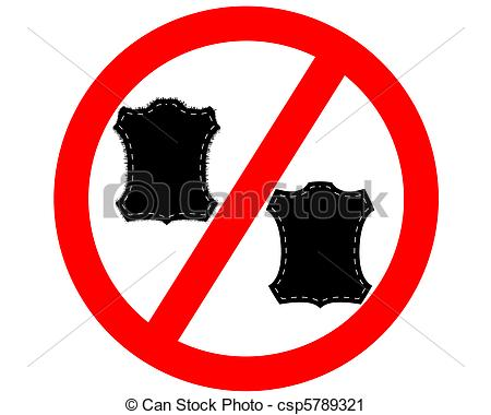 Clipart of No Fur and leather csp5789321.