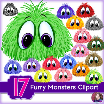 Furry Monsters Clipart.