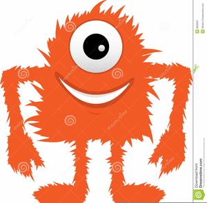 Furry Monster Clipart.