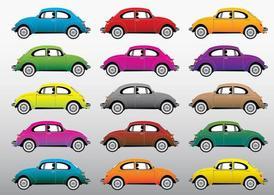 Beetle Cars, Clip Art.