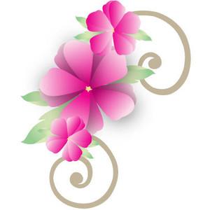 Fuschia flowers clipart.