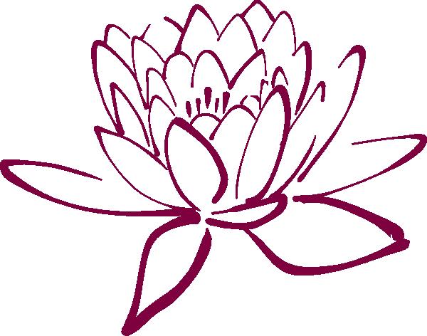 Fuschia Lotus Clip Art at Clker.com.