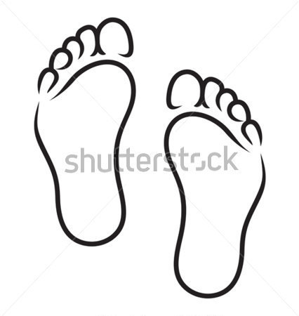 2 Feet Clipart.